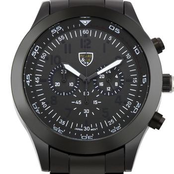 Black Men's Multi-Function Watch