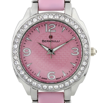 Casual Crystal Bezel Ladies Watch