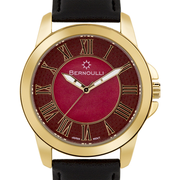 Casual Roman Numerals Ladies Leather Watch