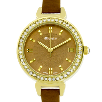 Classic Crystal Studded Bezel Ladies Watch