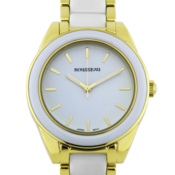 Elegant Enamel Insert Link Ladies Watch