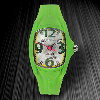 Green Silicone Case Unisex Watch