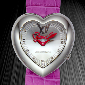 Heart Shape Crystal Indices Ladies Watch