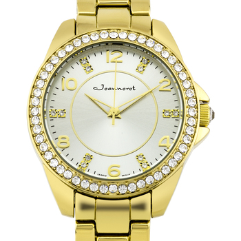 Crystal Bezel Gold Tone Ladies Watch