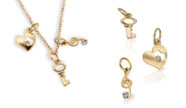 Key to My Heart Charms Necklace