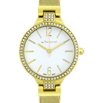 Luxury Crystal Bezel Mesh Band Ladies Watch