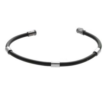 Men's Sterling Silver  Rubber  Cuff Bracelet