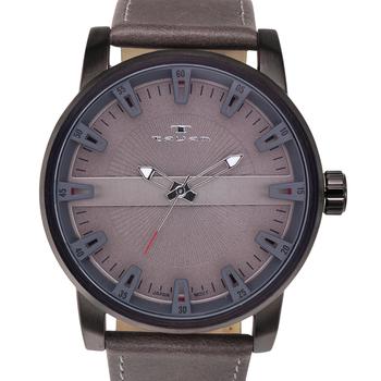 Vintage Style Brushed Metal Men's Watch