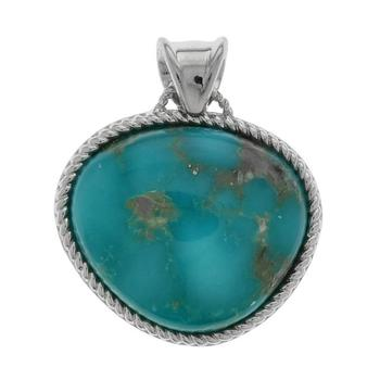 Sterling Silver Campo Frio Turquoise Rope Bezel Enhancer Pendant