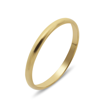 Sterling Silver Gold Band Ring SIZE 8