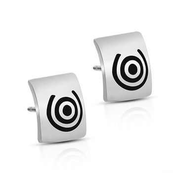 Sterling Silver Swirl Studs Earrings
