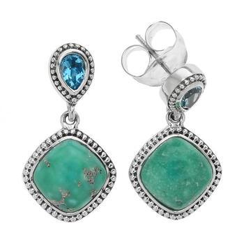 Sterling Silver Turquoise Beaded Earrings