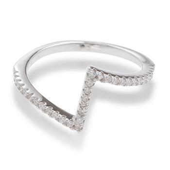 Sterling Silver Urban V Midi Ring Size 5