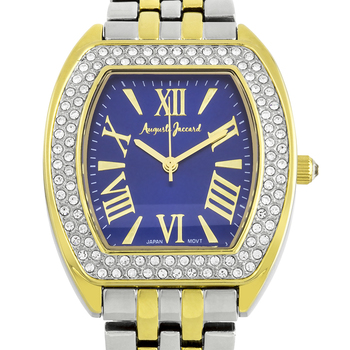 Stylish Chunky Bracelet Crystal Studded Bezel Ladies Watch