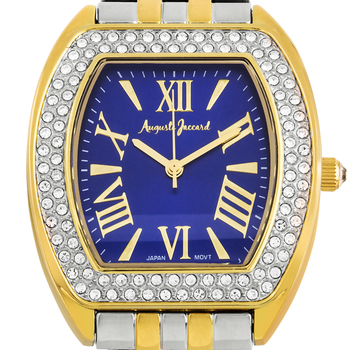 Stylish Pave Crystal Studded Bezel Ladies Watch