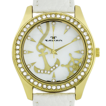 Swarovski Crystal Bezel Nautical Ladies Watch