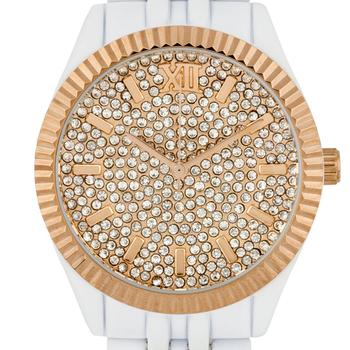 Swarovski Crystal Embedded Dial Ladies Watch