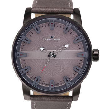 Vintage Style Brushed Metal Men's Watch