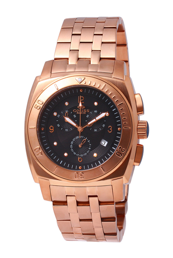 SWISS CHRONOGRAPH MOV'T, STAINELESS STEEL,  ONISS ON614-MRG - RETAIL AT $725.00