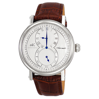 20 JEWELS - AUTOMATIC, BROWN GENUINE LETHER BAND, AK5665-MSV - RETAIL AT $ 600.00