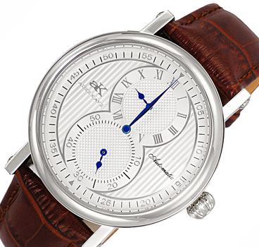 Adee Kaye - 20 JEWELS - AUTOMATIC, BROWN GENUINE LETHER BAND, AK5665-MSV - RETAIL AT $ 600.00