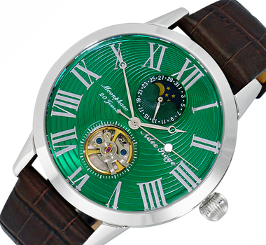 20 Jewels Automatic Movement with Moon Phase Complication, AK2269-11GNBN RETAIL AT $645.00