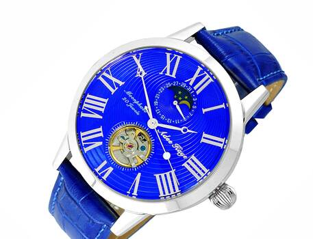 20 Jewels Automatic Movement with Moon Phase Complication, AK2269-12BUBU RETAIL AT $645.00
