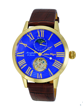 20 Jewels Automatic Movement with Moon Phase Complication, AK2269-18GBU RETAIL AT $645.00