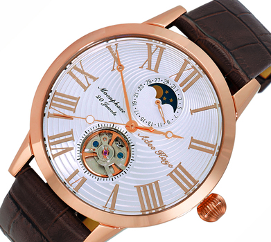 20 Jewels Automatic Movement with Moon Phase Complication, AK2269-20RGWT,-BN RETAIL AT $645.00