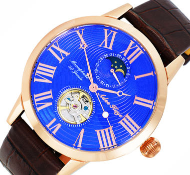 20 Jewels Automatic Movement with Moon Phase Complication, AK2269-21RGBU_BN RETAIL AT $645.00