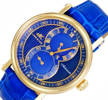 20-Jewels TY2708  Automatic Regulator Movement , Genuine leather band, AK5665-MGBU_BU - Retail price at $600.00