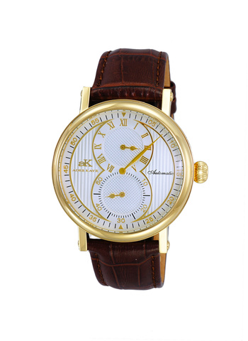 20-Jewels TY2708  Automatic Regulator Movement , Genuine leather band, AK5665-MGSV - Retail price at $600.00