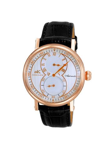20-Jewels TY2708  Automatic Regulator Movement , Genuine leather band, AK5665-MRGSV - Retail price at $600.00