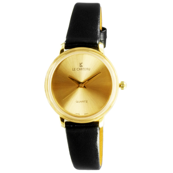 Le Chateau Women's Round Sunray Stainless Steel & Leather Watch  (MSRP: $425.00)