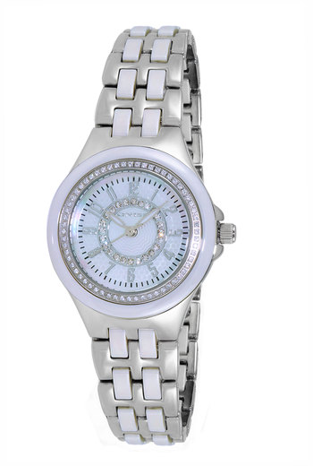 HIGH TECH CERAMIC, AUSTRIAN CRYSTAL ACCENT, MOP DIAL, ON2430-11_LWT, RETAIL AT  $375.00