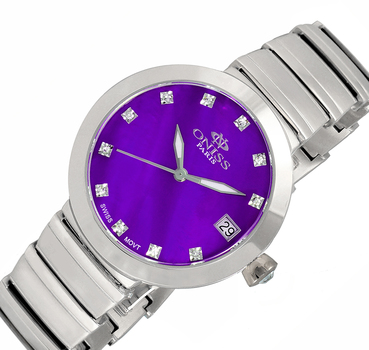 SWISS MOVEMENT, AUSTRIAN CRYSTAL ACCENT, MOTHER OF PEARL DIAL, ON5559-15_PU - RETAIL AT 425.00