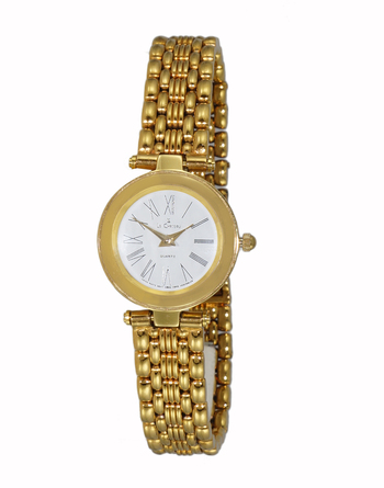 GOLD TONE, 3 HANDS WHITE DIAL, LC115-LGWT