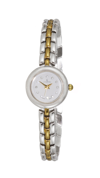 Stainless Steel, Gold tone,  Gold Dial, LCTS048-LSV