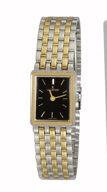 Stainless Steel, 2-Tone Gold,  Black Dial, LC3636-LTTBK