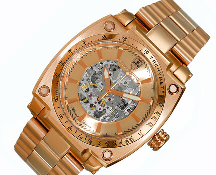 LeChateau Skeleton Dial Automatic Watch, with Exhibition Back, LC1R777R - Retail at (MSRP: $ 2,244.00)