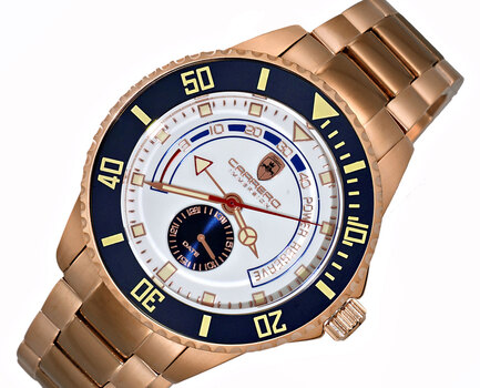 Lechateau  Automatic- Power reserve, Sunray dial, Date counter, Exhibition band, CR11BUSV,  Retail at (MSRP: $2,604.00)