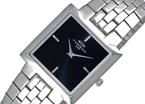 ONISS SWISS MOVEMENT, SLIM WATCH, ON5544-MBK, RETAIL AT $295.00