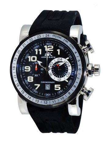 CHRONOGRAPH MOV'T,  DATE COUNTER, AK7233-MBK, RETAIL AT $2555.00