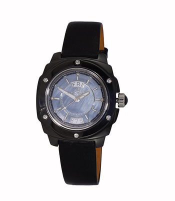SWISS MOV'T., HIGH TECH CERAMOC CASE , MOP DIAL, ON436-LB/BK RETAIL AT $750.00