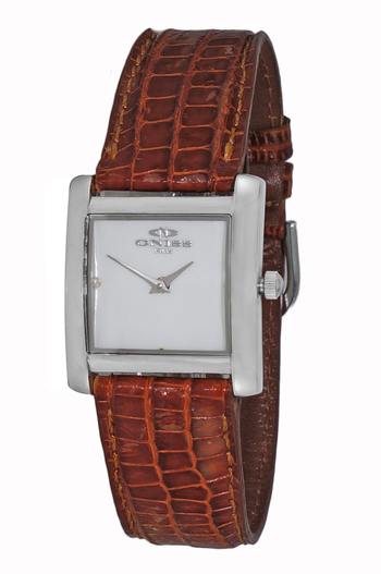 STAINLESS STEEL CASE, GENUINE LEATHER BAND, ON111-LWTBN