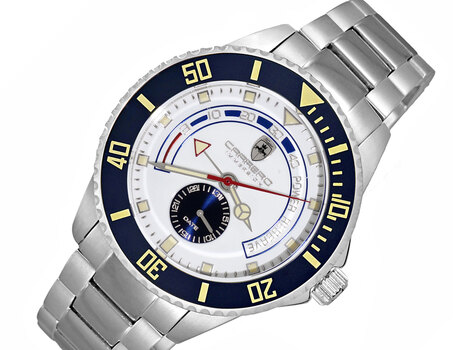 Lechateau  Automatic- Power reserve, Sunray dial, Date counter, Exhibition band, CS11BUSV,  Retail at (MSRP: $2,604.00)
