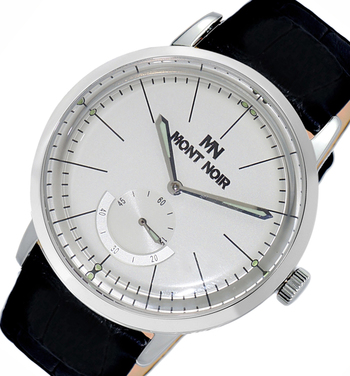 LECHATEAU (MONT NOIR) - 21 JEWELS AUTOMATIC MECHANICAL MOV'T. GENUINE LEATHER BAND, MN9044-MSV/BK, RETAIL AT $560.00