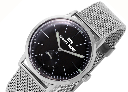 LeChateau-Mont Noir  Men's 21 Jewel Mechanical Stainless Steel & Mesh Band, MN9044-MBK-MESH, Retail at $560.00