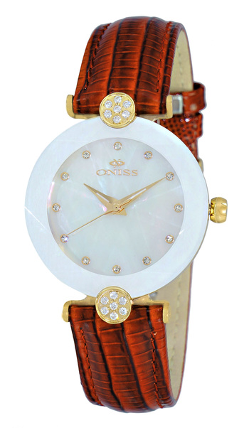 AUSTRIAN CRYSTAL ACCENT, GENUINE LEATHER BAND, FACETED MINERAL CRYSTAL, ON8776-LG/SV