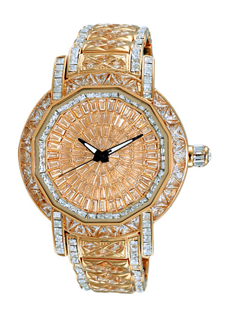 AUSTRIAN CRYSTAL ACCENT, GOLD TONE , AK8195-RGRG - RETAIL AT $495.00